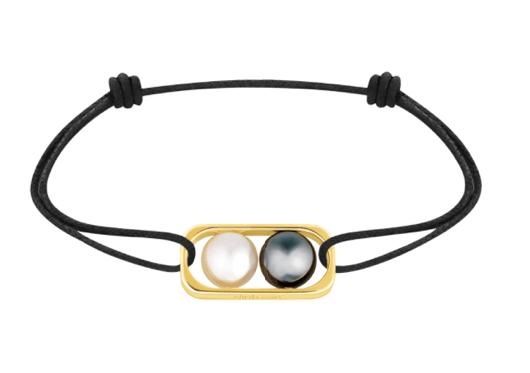 Bracelet sur cordon 2 Perles