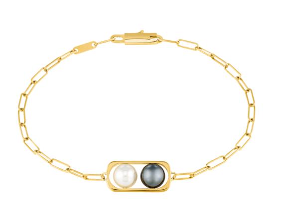 Bracelet sur chaîne 2 Perles