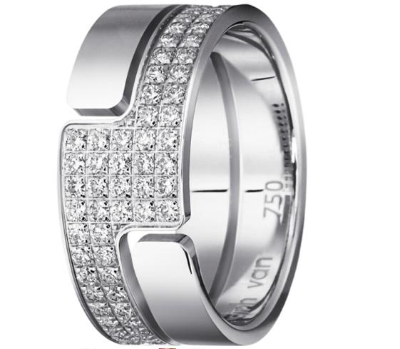 Bague Seventies moyen modèle diamants